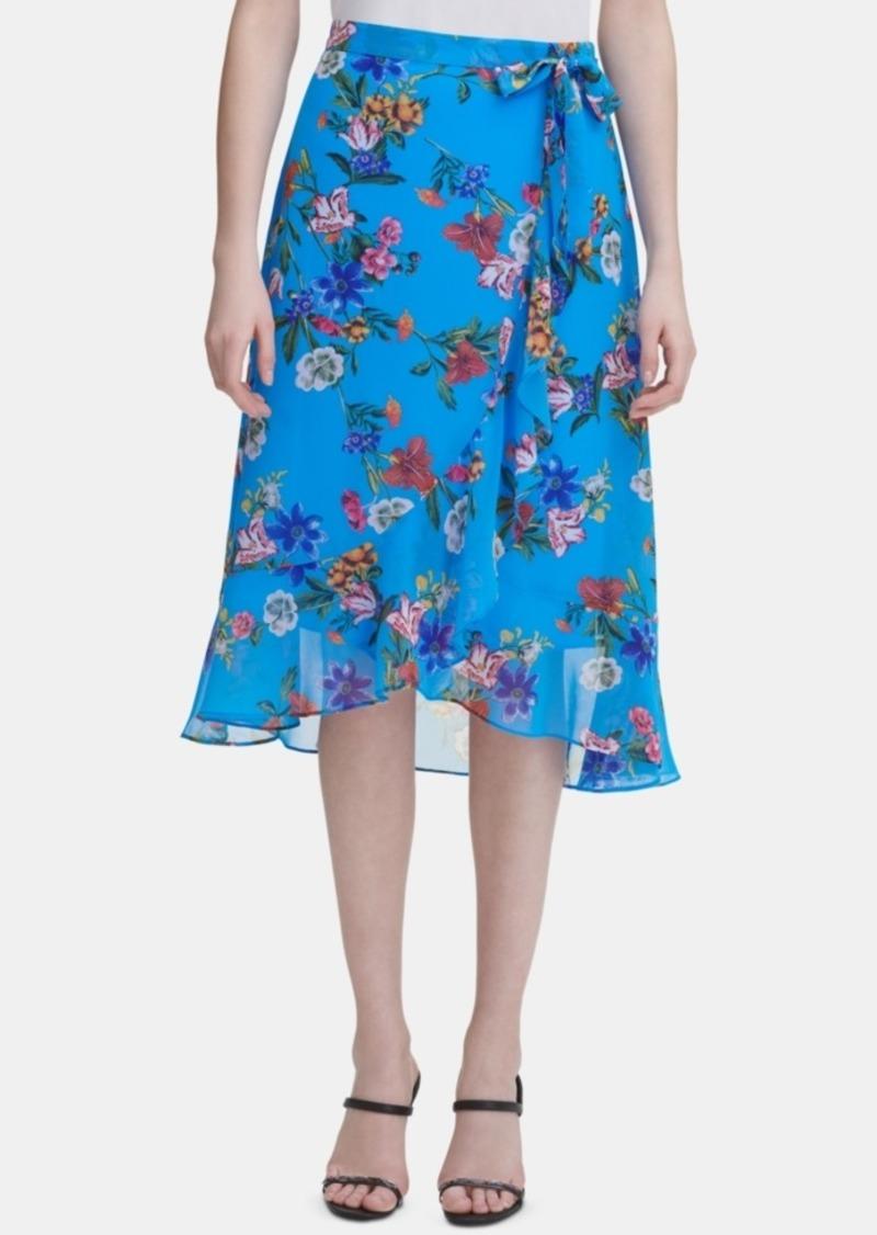 Calvin Klein Floral Midi Skirt