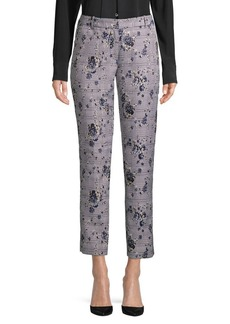 Calvin Klein Floral Plaid Cropped Pants