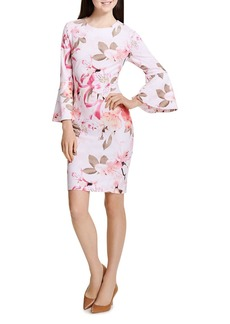 Calvin Klein Floral-Print Bell-Sleeve Dress
