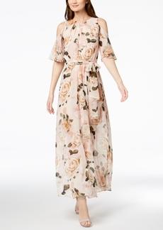 Calvin Klein Floral-Print Chiffon Maxi Dress
