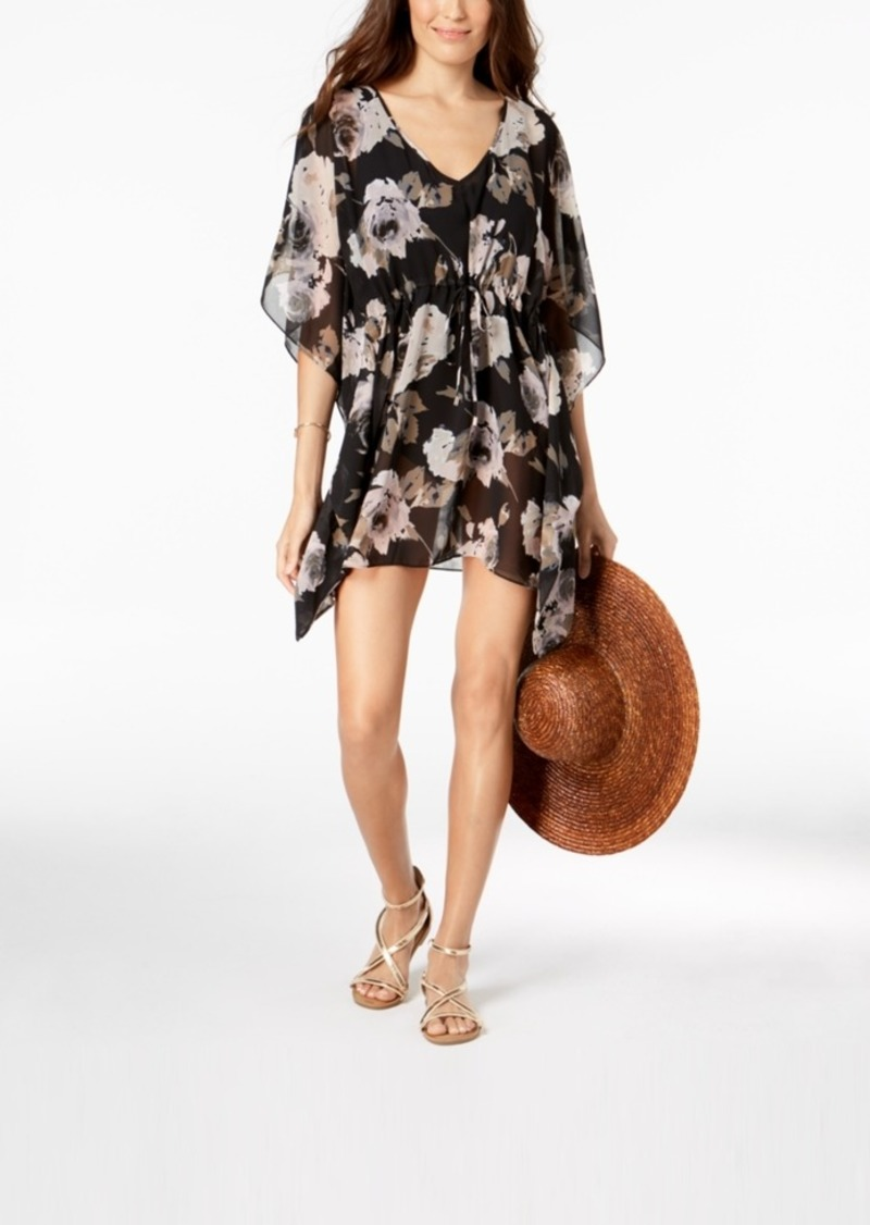 c056b2578f Calvin Klein Calvin Klein Floral-Print Cover-Up Women s Swimsuit ...