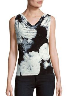 Calvin Klein Floral Print Cowlneck Top