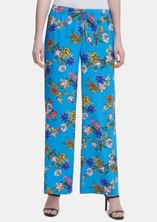 Calvin Klein Floral-Print Drawstring-Waist Pants