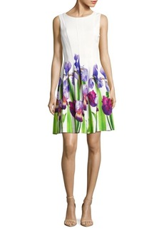 Calvin Klein Floral-Print Fit-&-Flare Dress