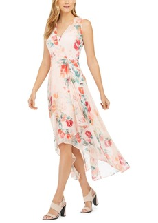 Calvin Klein Floral-Print High-Low Dress