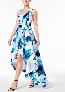 Calvin Klein Floral-Print High-Low Gown