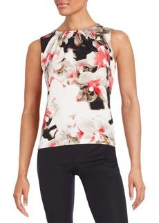 Calvin Klein Floral Print Jersey-Knit Top