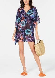 Calvin Klein Floral-Print Kaftan Cover-Up Women's Swimsuit