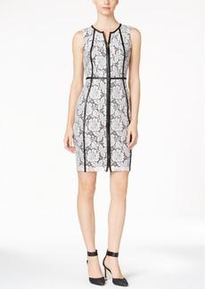 Calvin Klein Floral-Print Lace Dress