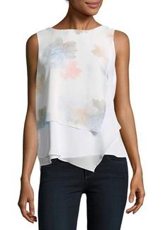 Calvin Klein Floral-Print Overlay Top
