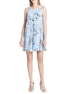 Calvin Klein Floral-Print Pleated Shift Dress
