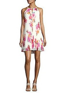 Calvin Klein Floral-Print Pleated Trapeze Dress