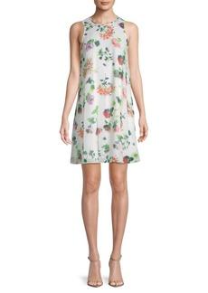 Floral-Print Pullover Mini Dress