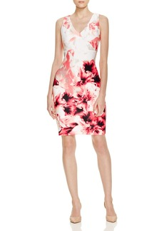 Calvin Klein Floral Print Scuba Dress - 100% Exclusive