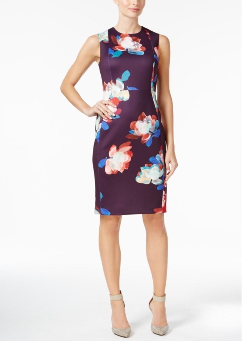 b0647183 Calvin Klein Calvin Klein Floral-Print Scuba Sheath Dress | Dresses