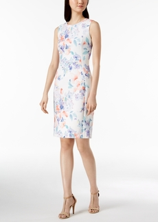 Calvin Klein Floral-Print Scuba Sheath Dress, Regular & Petite Sizes