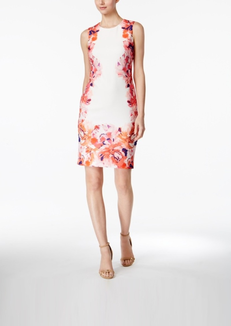 2fda8ff9113d Calvin Klein Calvin Klein Floral-Print Sheath Dress | Dresses