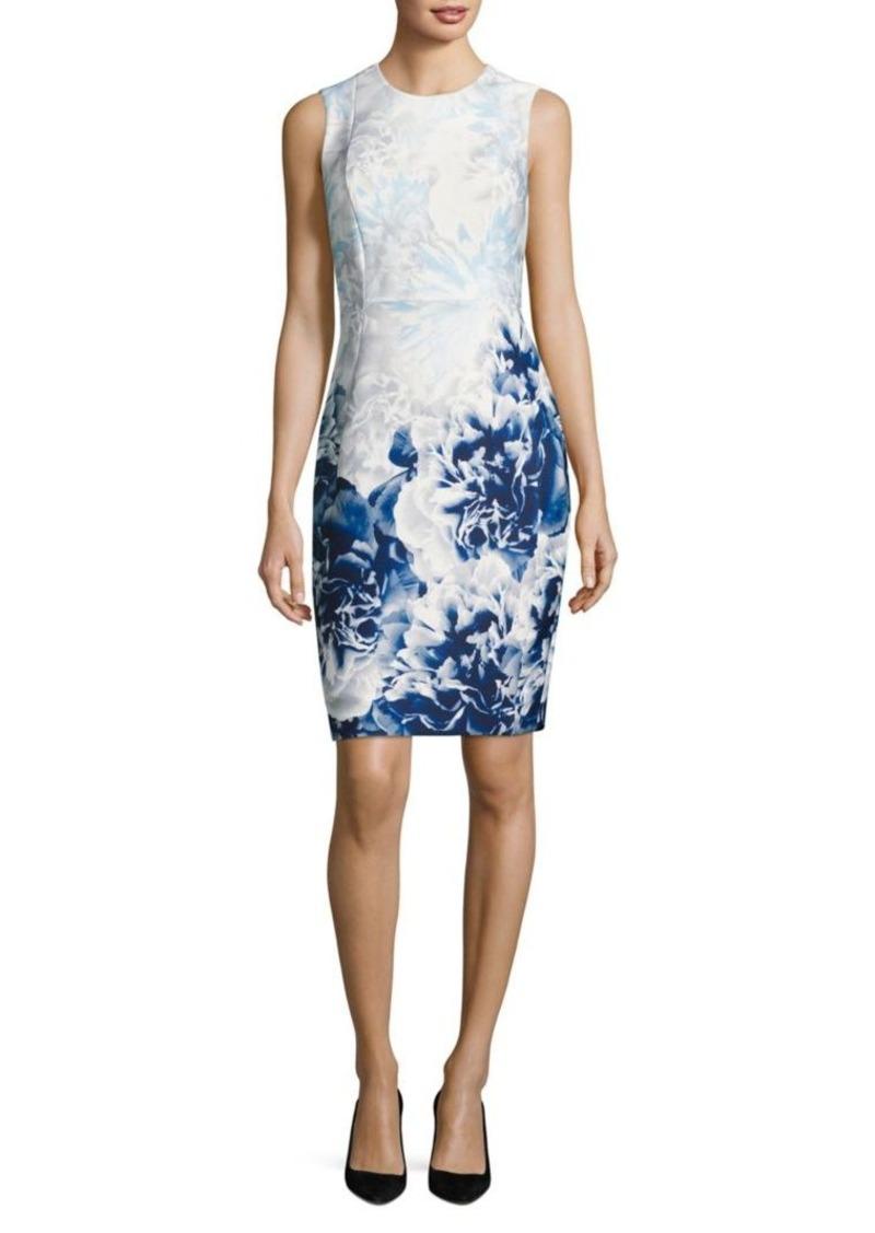 324518d200ad SALE! Calvin Klein Calvin Klein Floral-Print Sheath Dress