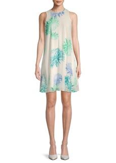 Floral-Print Sleeveless Mini Dress