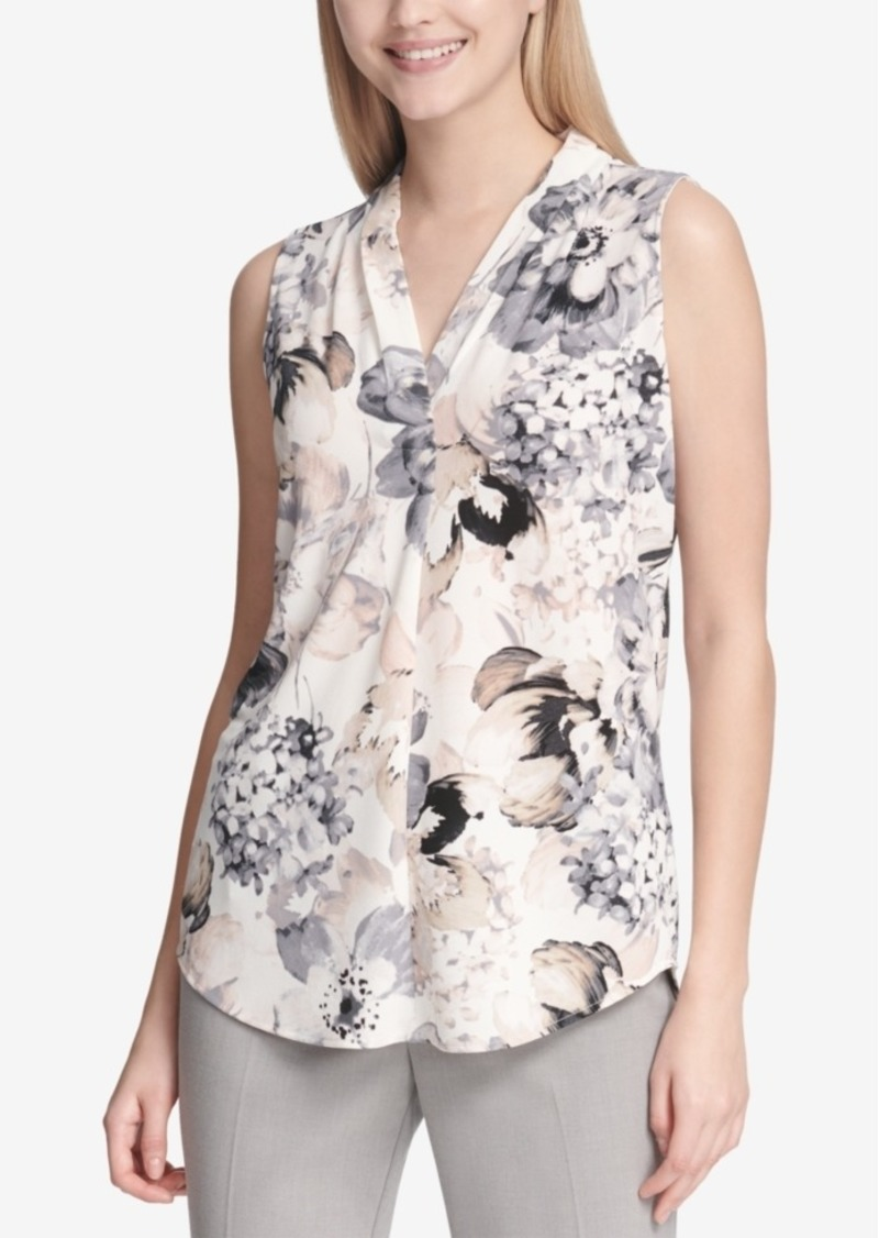 Calvin Klein Floral-Print Sleeveless Top