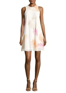 Calvin Klein Floral-Print Sleeveless Trapeze Dress
