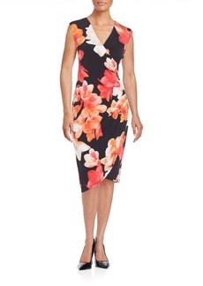 Calvin Klein Floral Print Tulip Dress