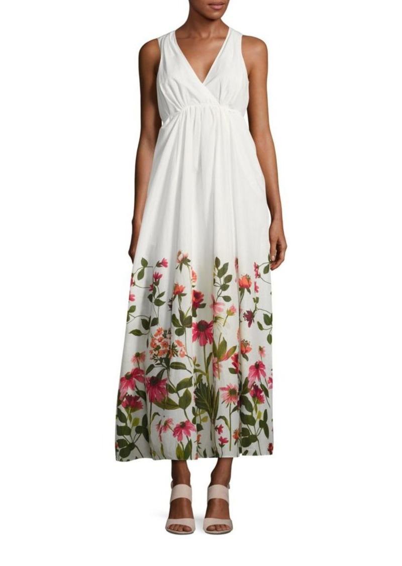 e4149bdac49 Calvin Klein Calvin Klein Floral Print V-Neck Maxi Dress Now  27.80