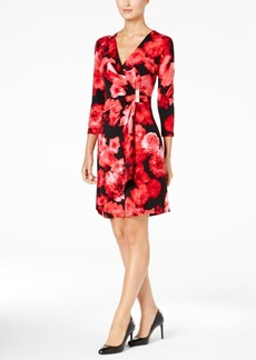 Calvin Klein Floral-Print Wrap Dress