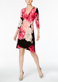 Calvin Klein Floral-Print Wrap Dress