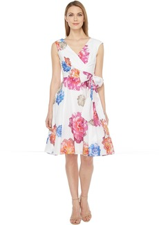 Calvin Klein Floral Printed Cotton Voil Dress