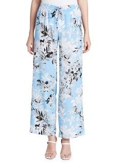 Calvin Klein Floral Printed Wide-Leg Pants