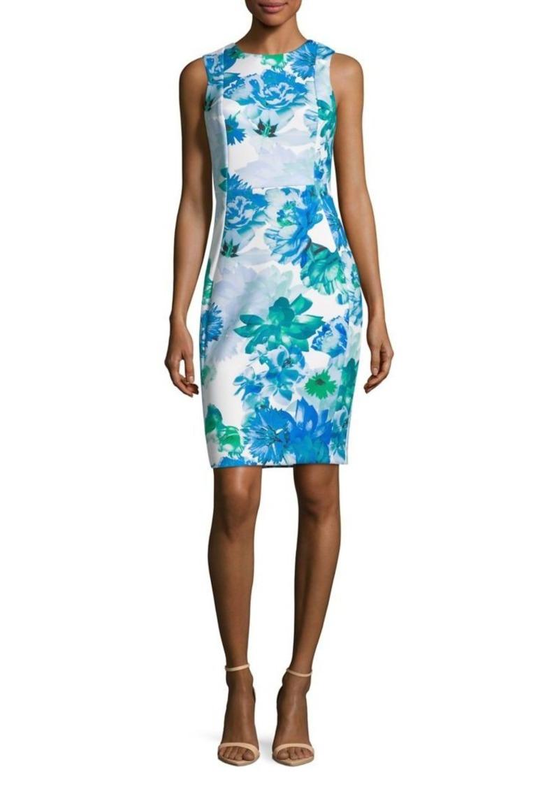 19512d2a On Sale today! Calvin Klein Calvin Klein Floral Sheath Dress
