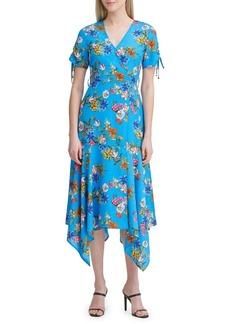 Calvin Klein Floral Short-Sleeve Midi Dress