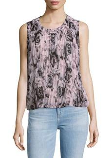 Calvin Klein Floral Sleeveless Blouse