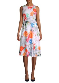 Calvin Klein Floral Sleeveless Dress