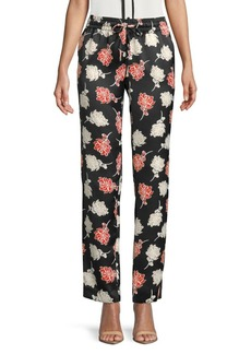Calvin Klein Floral Straight Leg Pants