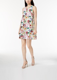 Calvin Klein Floral-Stripe Shift Dress