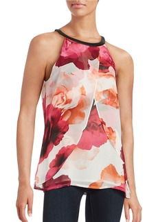 CALVIN KLEIN Floral Tiered Top