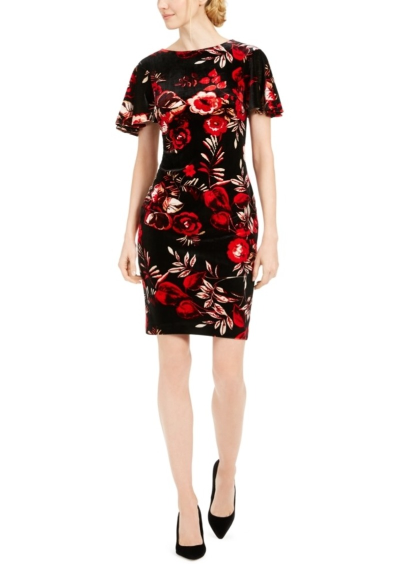 Calvin Klein Floral Velvet Dress