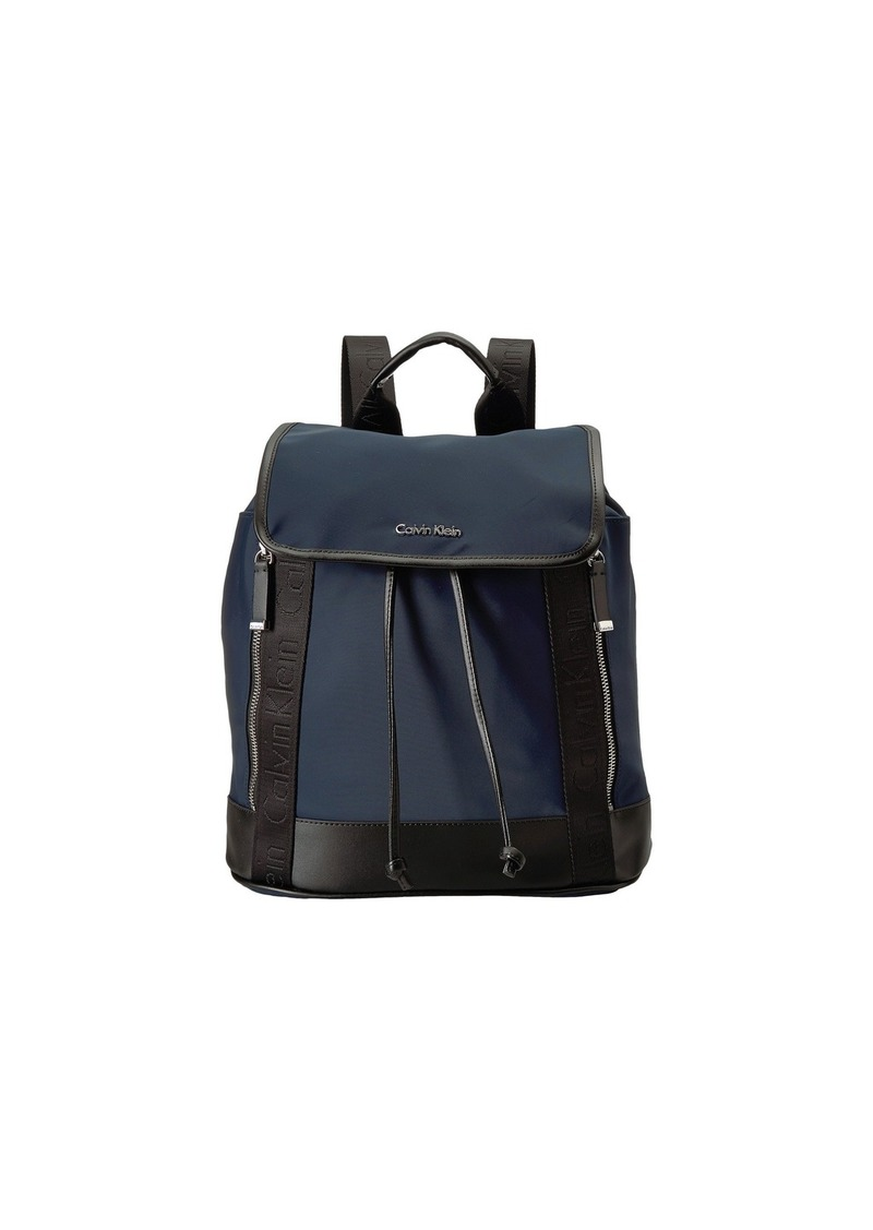 340ce391bea On Sale today! Calvin Klein Florence Nylon Flap Backpack
