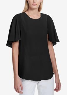 Calvin Klein Flutter-Sleeve Tunic