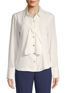 Calvin Klein Folded-Panel Blouse