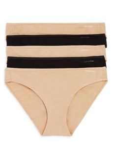 Calvin Klein Form Cotton Bikinis, Set of 5