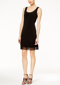 Calvin Klein Fringe-Hem Sheath Dress