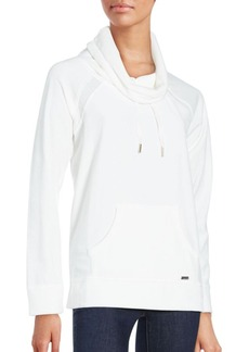 Calvin Klein Funnel Neck Cotton Blend Pullover