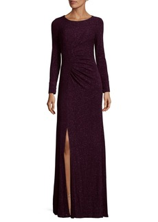 Calvin Klein Gathered Knit Floor-Length Dress
