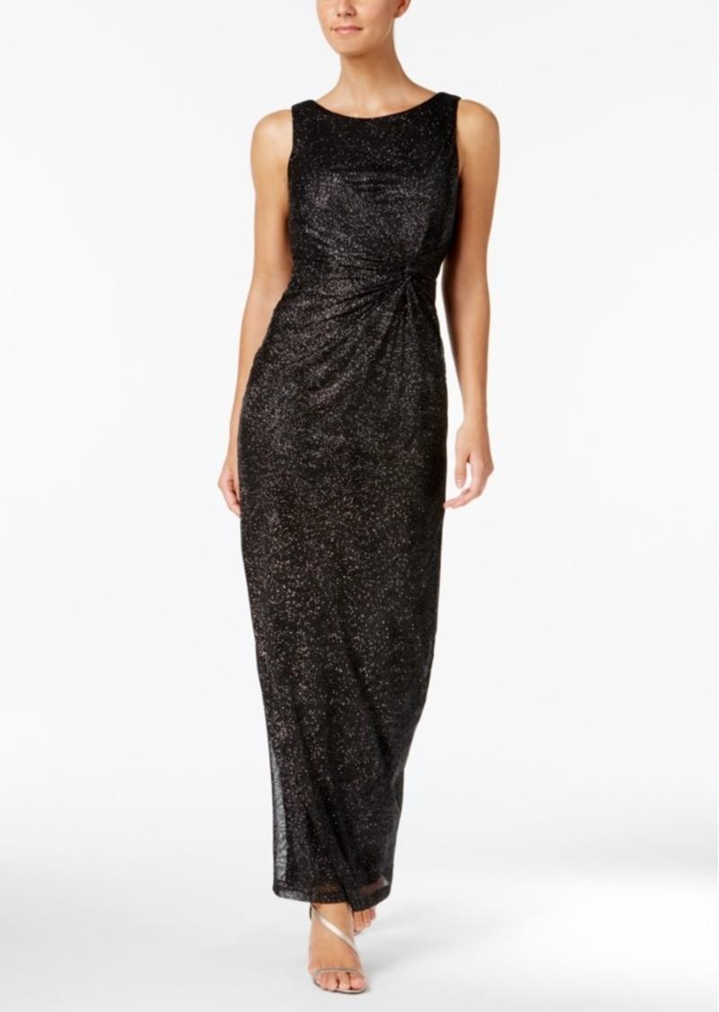 Calvin Klein Calvin Klein Gathered Swirl-Pattern Sparkle Gown | Dresses