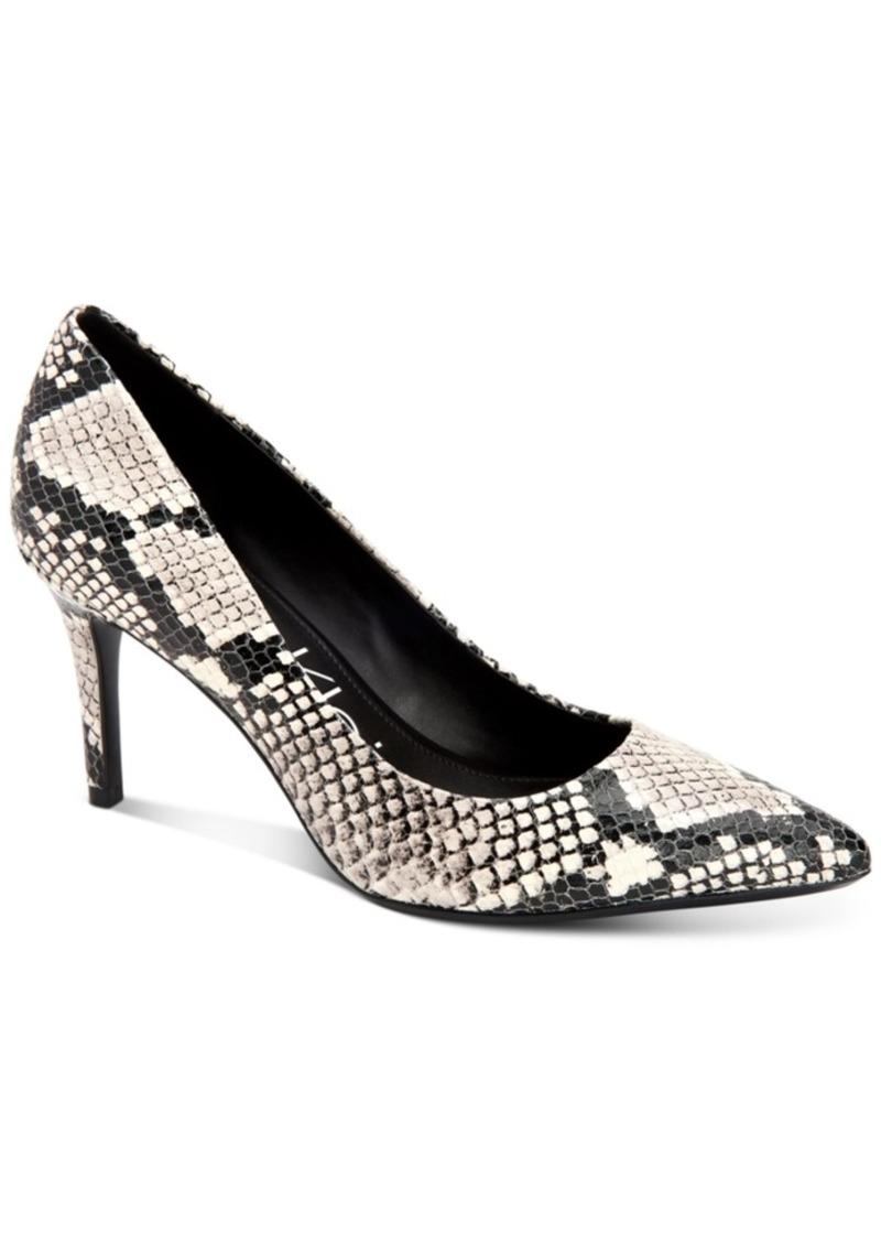 Calvin Klein Women's Gayle Snakeskin-Print Stiletto Pumps Women's Shoes