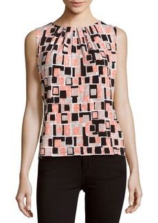 Calvin Klein Geometric-Print Sleeveless Top