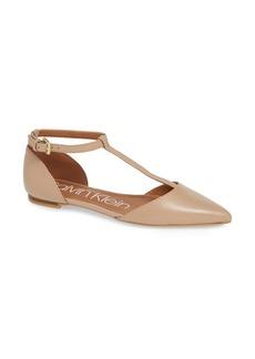 Calvin Klein 'Ghita' T-Strap Flat (Women)